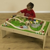 Small World Wooden Train Set and Table  small