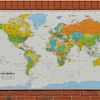 Outdoor World Map Playground Signs  small