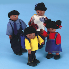 Small World Multicultural Doll Family Multibuy  medium