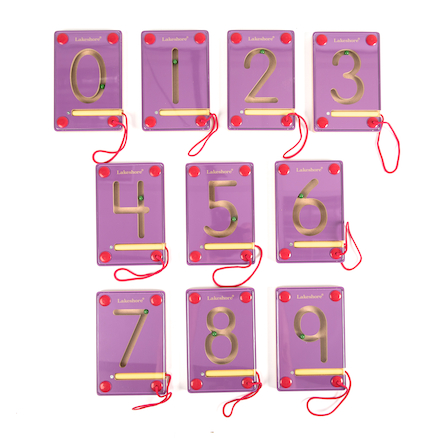 Wooden Magnetic Learning Numbers 0\-9  large