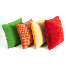 Rainbow Pattered Texture Pillow Cushions 4pk  medium