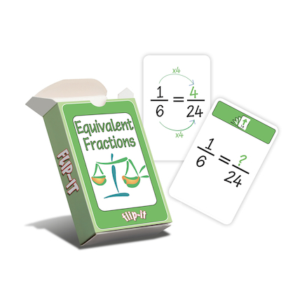 Flip\-It Complete Fractions Cards Set  large