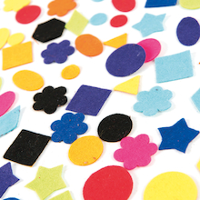 Self Adhesive Felt Shapes Assorted 100pk  medium