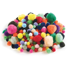Colourful Assorted Pom Poms 300pk  medium