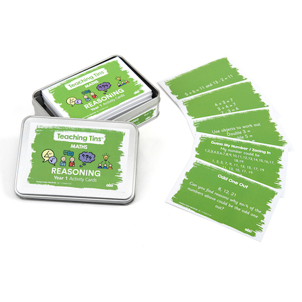 Maths Reasoning Activity Cards Year 1 100pk  large