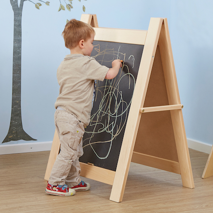 Single Toddler Wooden Chalkboard Easel  large