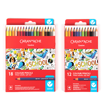 Caran Dache Water\-Soluble Colouring Pencils   large