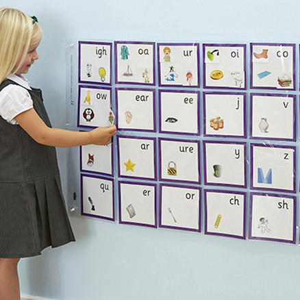 Phonics Pocket Wall Chart  large