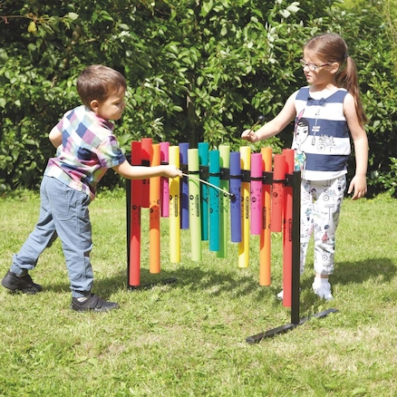 Double Sided Outdoor Boomwhacker Frame  large