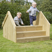 Outdoor Wooden Step Bridge  medium
