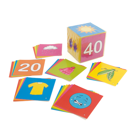Spanish Vocabulary Dice Insert Cards Set A  large