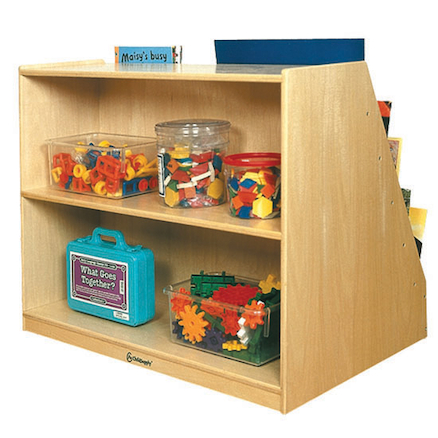 Book Display Unit with Storage W66 x D61 x H66cm  large