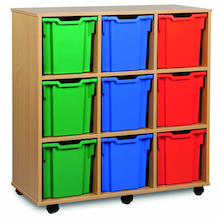 Mobile Tray Storage Unit With 9 Jumbo Trays  medium
