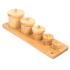 Wooden Toddler Sorting Pots  small