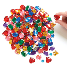 Giant Glittering Mirror Backed Acrylic Gems Assorted 700pk  medium