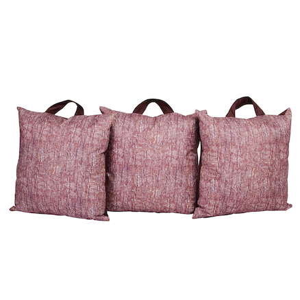 Lightweight Bark Print Cushions 3pk  large