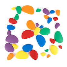 Sort and Pattern Rainbow Pebbles  medium