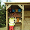 Outdoor Wooden Role Play House and Storage Centre  small
