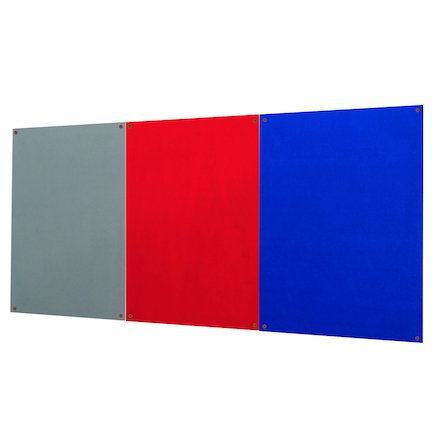 Unframed Noticeboard H1200 x W1800mm Grey  large