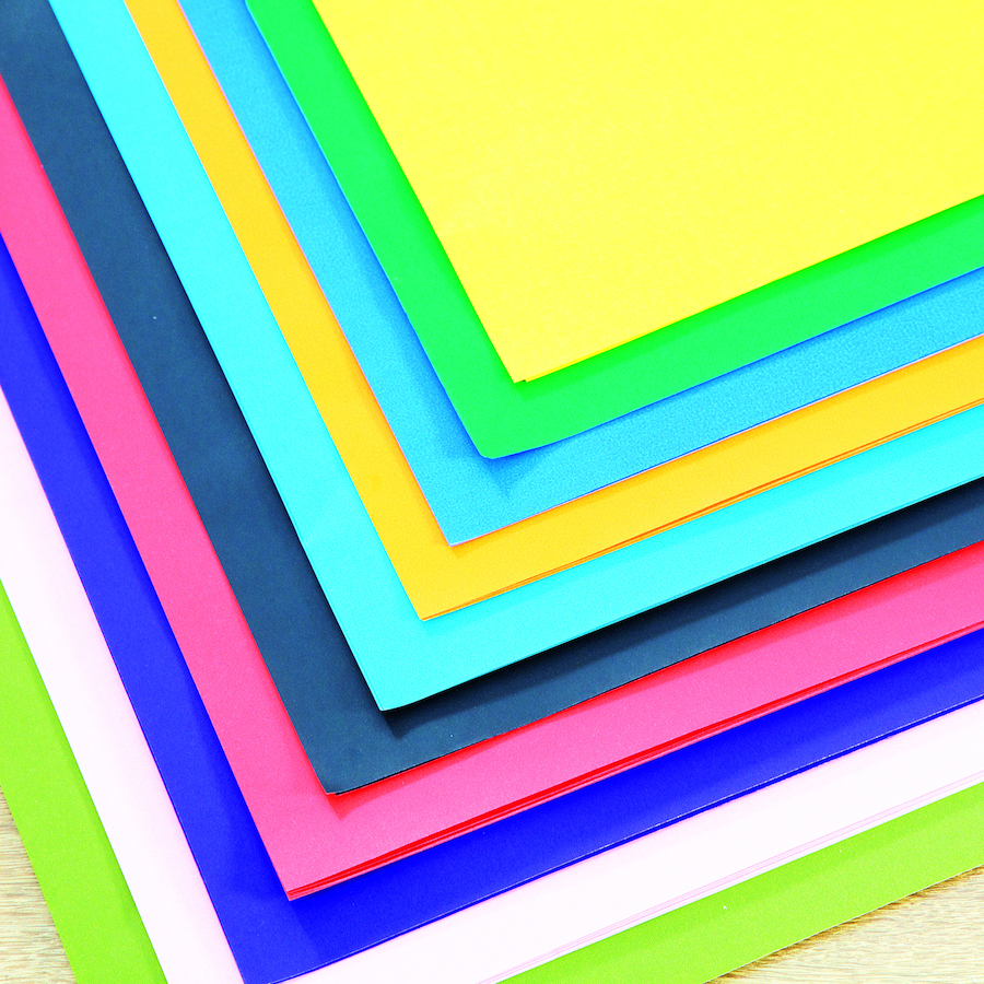 Buy Single Sided Assorted Poster Paper Sheets 100pk Tts