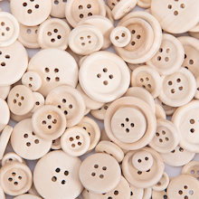 Plain Wooden Craft Buttons 440pk  medium
