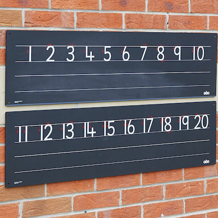 Outdoor Chalkboard Number Line 1\-20  large