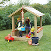 Wooden Outdoor Sandpit with Roof  small