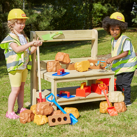 Outdoor Construction Activity Bench  large