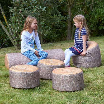 Woodland Tree Stumps Bean Bags  large
