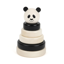 Panda Black & White Wooden Stacker  medium