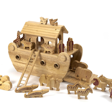Small World Natural Wooden Noah's Ark  medium
