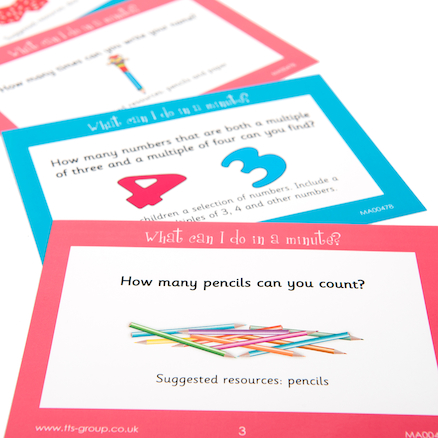 What Can I Do In A Minute? Maths Activity Cards  large