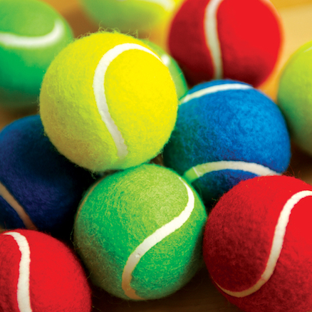 Coloured Playground Tennis Balls 7cm 12pk  large