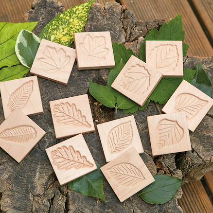 Match Me Sensory Leaf Tiles 12pk  large