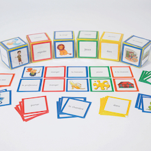 French Parts Of Speech Dice Cards  medium