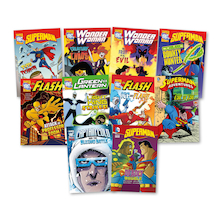 UKS2 Villians and Superheroes Books 10pk  medium
