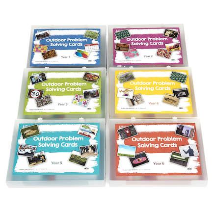 Outdoor Maths Problem Solving Cards A5 Group Set  large