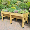 Veg Trug Planter Natural Wood  small