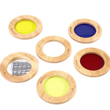 Wooden Colour Mixing Viewers 6pk  large