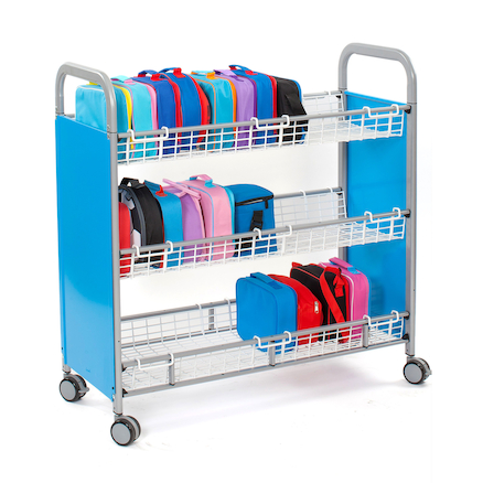 30 Lunchbox Metal Trolley  large