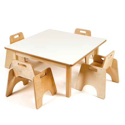 Toddler Low Square Table H380mm  large