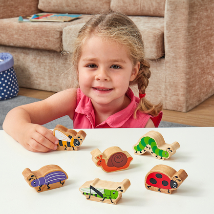 Wooden Animals Minibeast Set  large