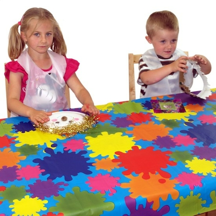Colourful PVC Table Covers 4pk  large