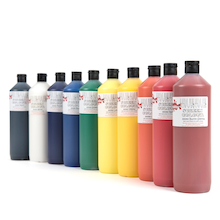 Scola Screen Printing Ink Assorted 10pk  medium