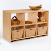 Essentials Indoor Wooden Six Compartment Bookcase  small