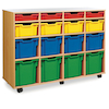 Mobile Tray Storage Unit With 16 Mixed Size Trays  small
