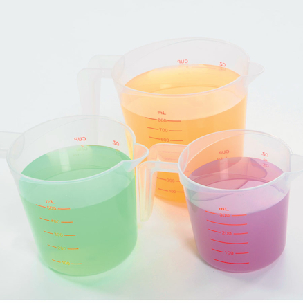 Plastic Measuring Jugs 3pcs  large