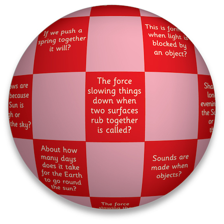 Inflatable Science Topic Talk Balls  large