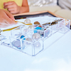 Lightbox Clear Acrylic Sorting Tinker Tray  small