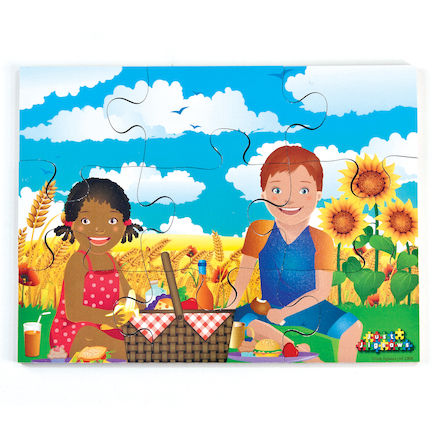 Illustrated Weather Jigsaw Puzzles Set 8pk  large